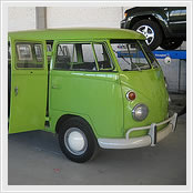 VW t1 bus standard version green