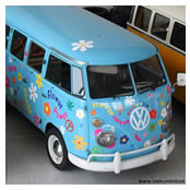 Kombi Bus T1 1971 Flower Power